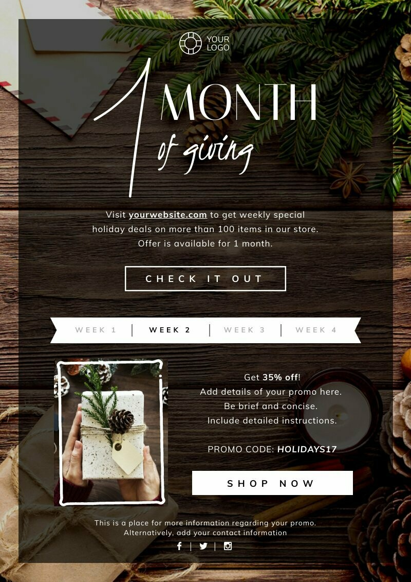 Product Holiday Sale