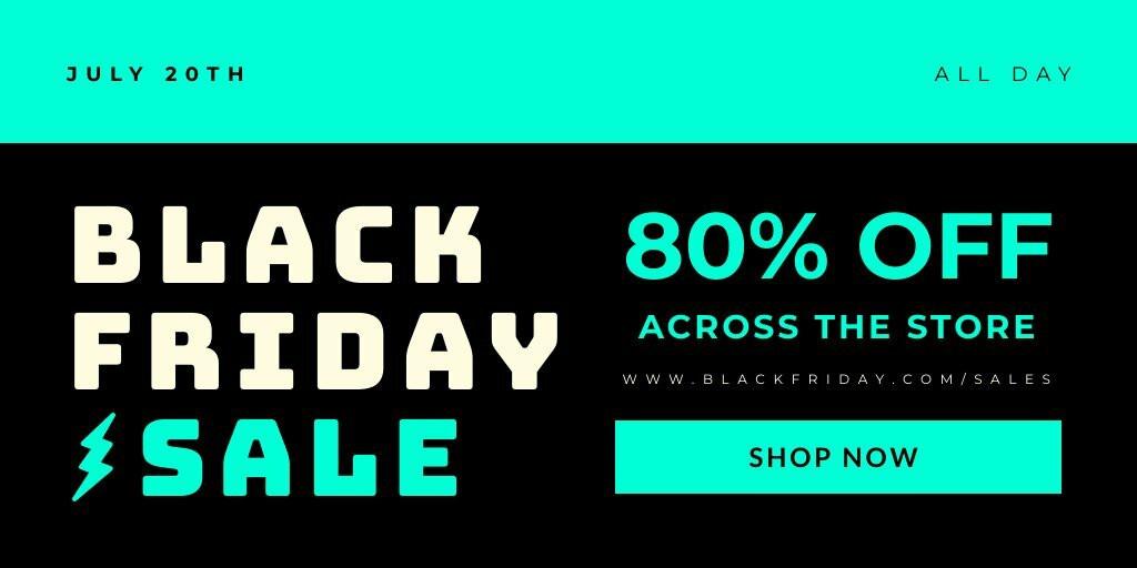 Black Friday Promo Twitter Post