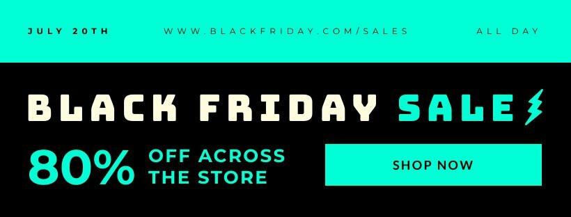 Black Friday Promo Facebook Cover