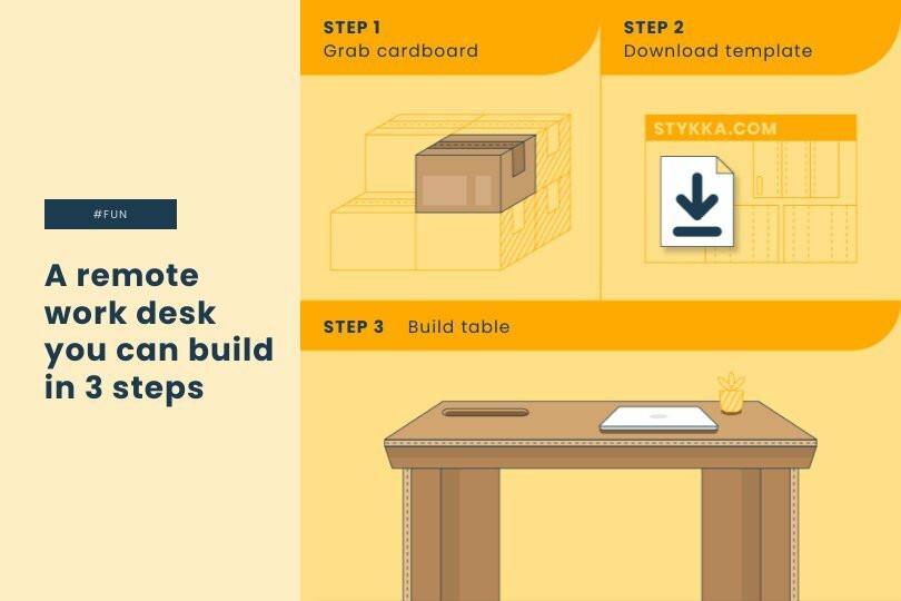 Cardboard Desk